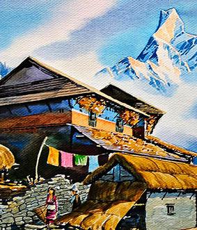 Ölgemälde Himalaya